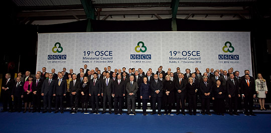 Group photograph of the participants in the OSCE Ministerial