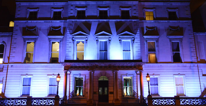 Iveagh House in UN Blue