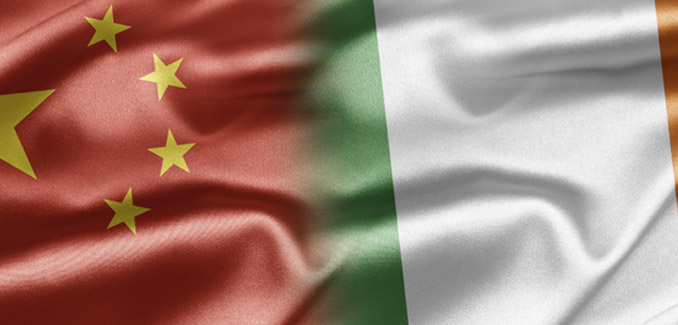 China and Ireland flag
