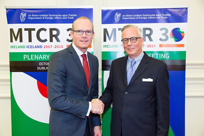 Minister Coveney with Icelandic Permanent Secretary of State, Mr Sturla Sigurjónsson