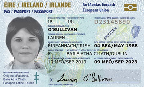 Front of the new Passport card