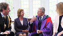 State Visit-NUI Galway Dr. Jim Browne, Ms. Schadt, Mr Joachim Gauck and Ms Maeve Browne