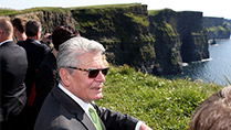 State Visit- H.E. Mr Joachim Gauck taking a tour at the Cliffs of Moher, Co Clare